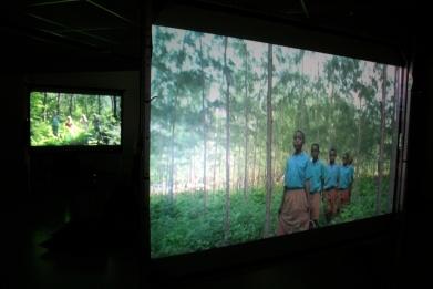 Return of Birdsong, 17min looped, 4×16:9-screen, 2009