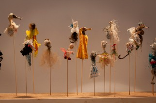 Sirius Passet -installation with puppets, 2014
